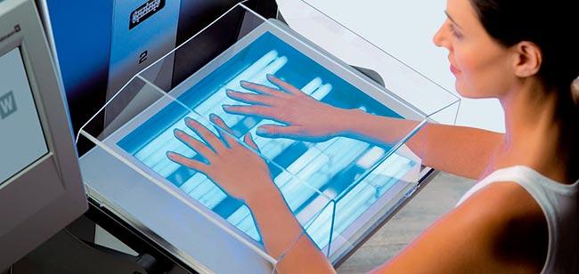 Ультрафиолет рук