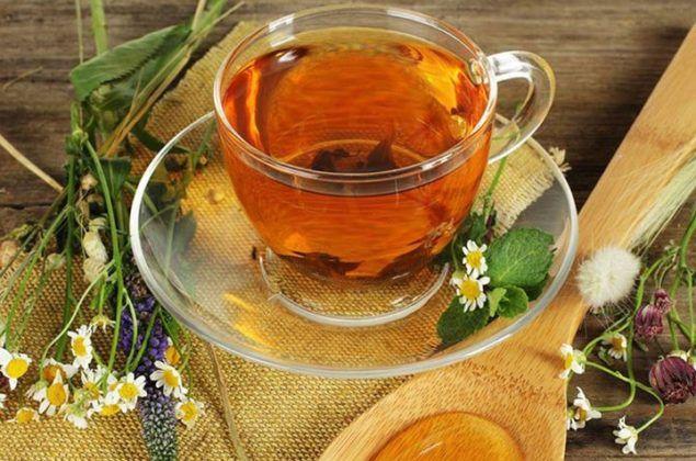 Травяной чай с мёдом
