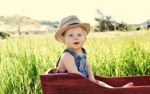 ребенок в поле