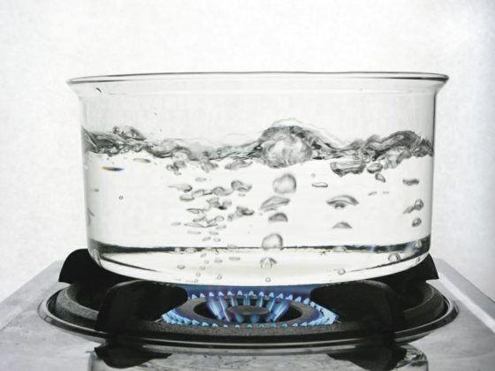 Запрещено вдыхать пары кипящей воды