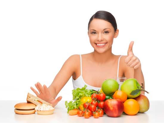 Недельная диета для лечения прыщей на лице