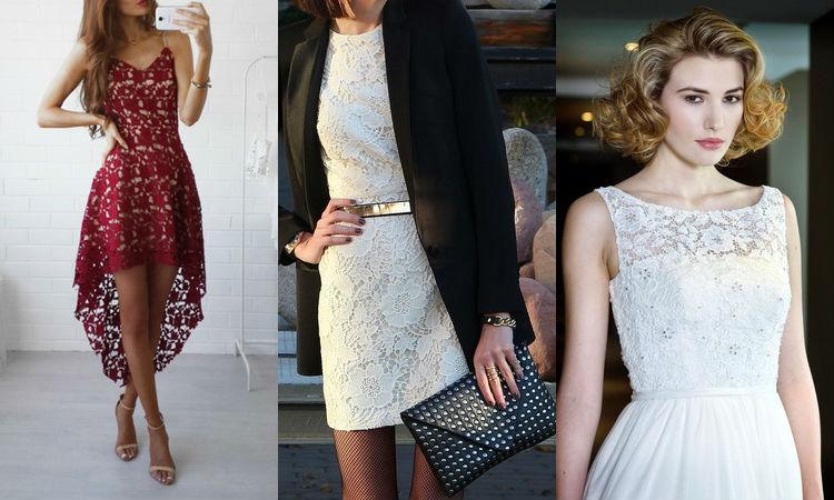 как носить платье из гипюра