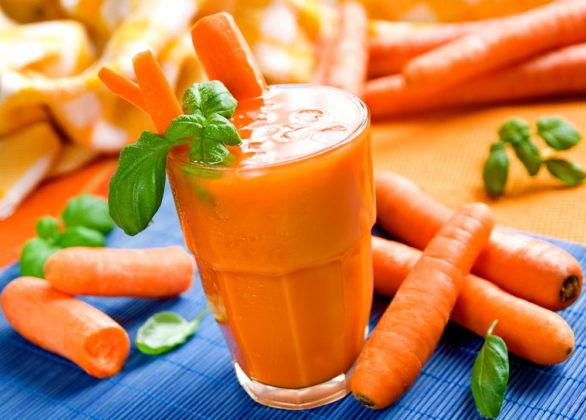 Морковный сок с сахаром