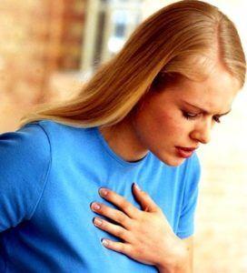 Боли за грудиной является признаком поражения вирусами гриппа