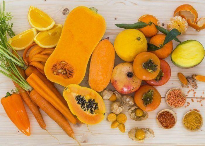 Фрукты и овощи желтого цвета
