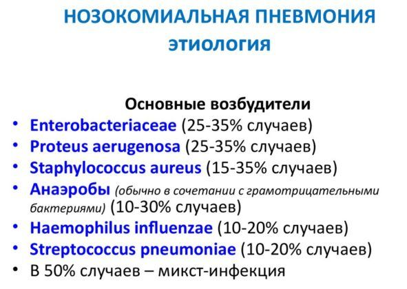 Классификация нозокомиальный пневмонии