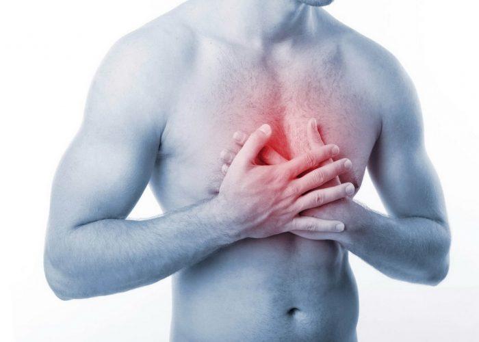 Сжимающая боль в области грудной клетки