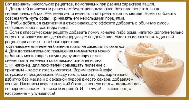 Классический рецепт гоголь-моголя