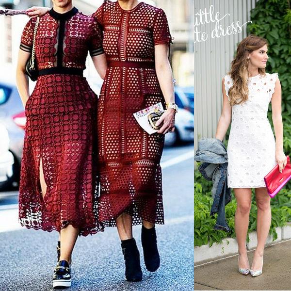 Как правильно носить платье из гипюра