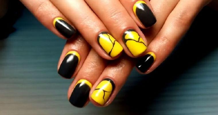 Учимся делать простой дизайн ногтей гель лаком