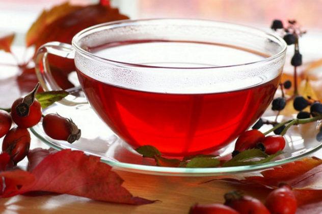Чай из шиповника для лечения простудного кашля