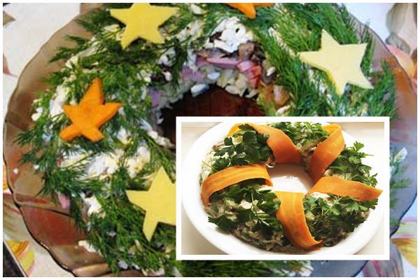 рождественский венок - салат