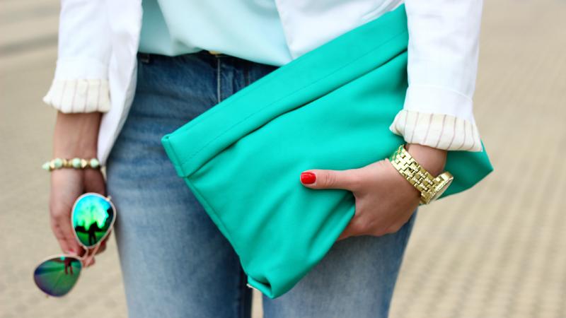 бирюзовый стиль в одежде