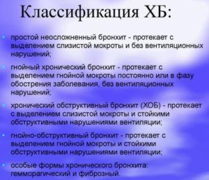 Классификация ХБ