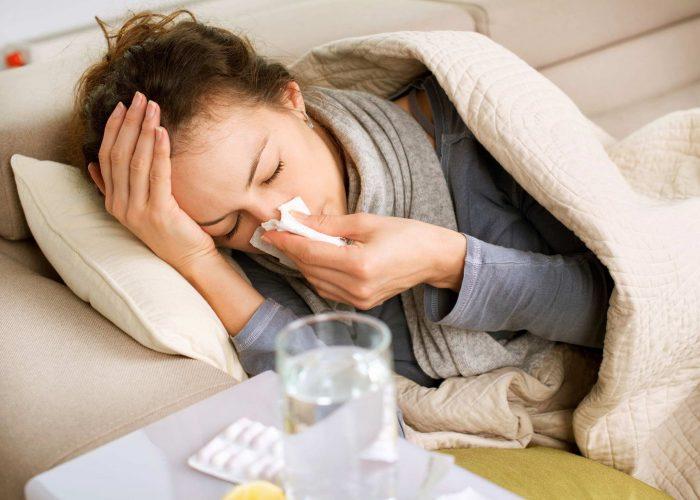 На фоне гриппа