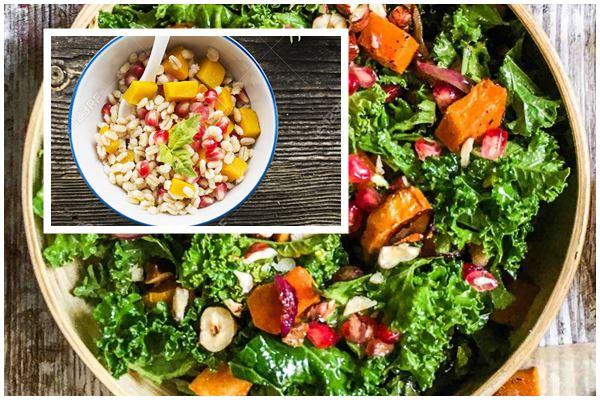 полезный салат из тыквы с перловкой