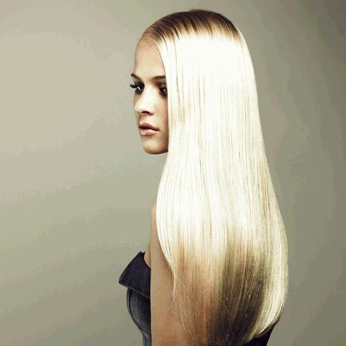 длинные прямые волосы