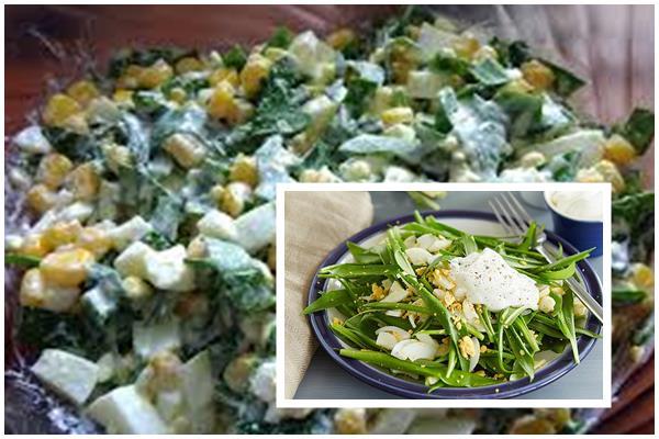 рецепты салатов из черемши