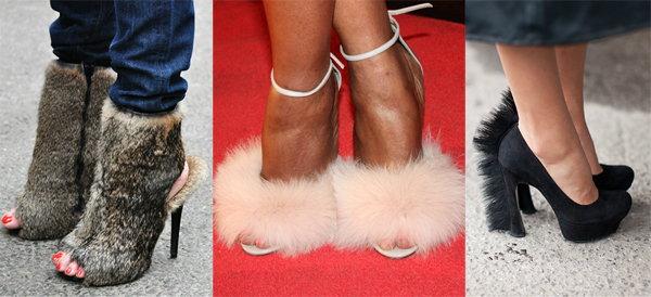 туфли из меха