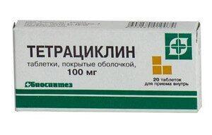 тетрациклин от простатита