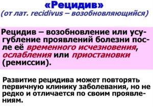 Рецидив