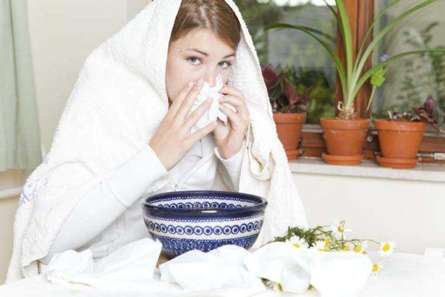 Ингаляция для лечения кашля с использованием ромашки