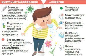 Отличия аллергического симптома от простудного