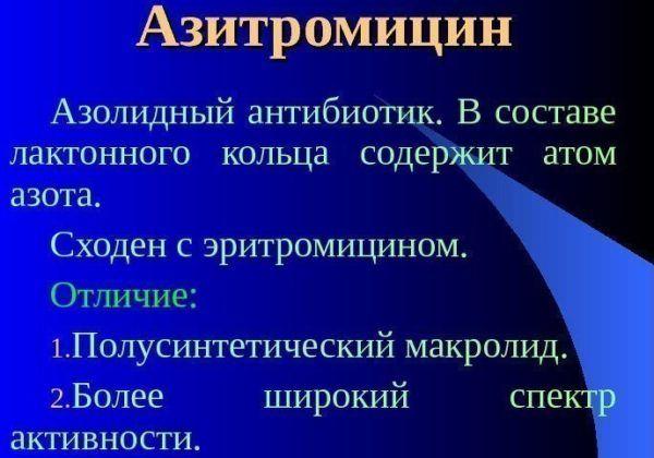 Азитромицин состав