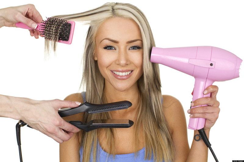 от ежедневного ухода страдают волосы
