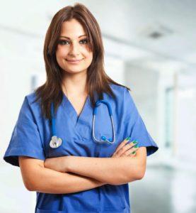 девушка врач